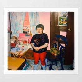 Self Portrait with Barbie, Age Seven Art Print