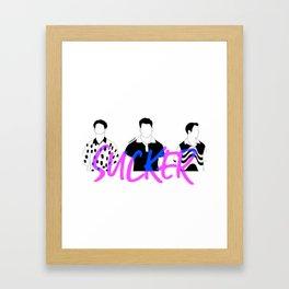 SUCKER Framed Art Print