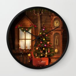 Old Christmas Room Wall Clock