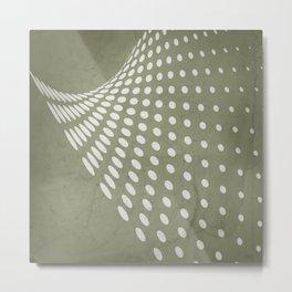 Halftone Flowing Swerve in Sage Green Metal Print