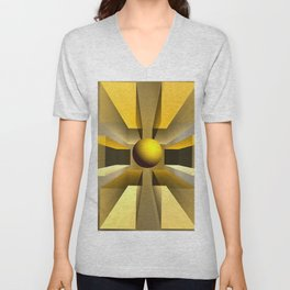 In a magical perspective, fractal abstract Unisex V-Neck