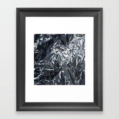 Crinkle - Gun Metal Framed Art Print