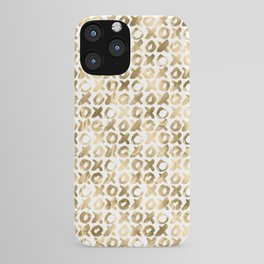 XOXO Love Me Gold Pattern 2 iPhone Case