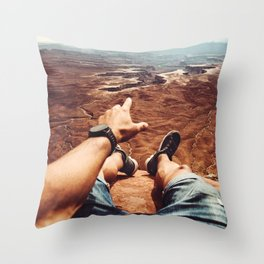 on top of canyonalnds Throw Pillow