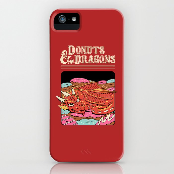 Donuts and Dragons iPhone Case