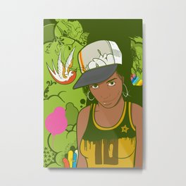 Lou Metal Print