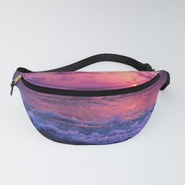 Pink Sunset Waves Fanny Pack