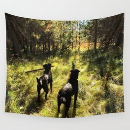 Tennis Ball Season Wall Tapestry