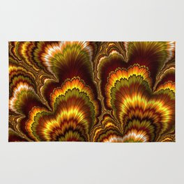 Turkey Feather Fractal Rug