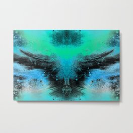 Winged Entity (serenity shell blue-green) Metal Print
