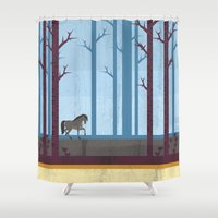 woods Shower Curtains featuring Woods by Kakel
