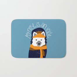 Arctic Fox by Darah King Bath Mat