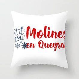 Molines en Queyras and Winter Sports Throw Pillow