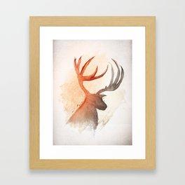 Sunlight Deer Framed Art Print