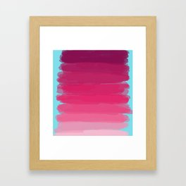 Lipstick: Shades of Pink Gradient Color Study Framed Art Print