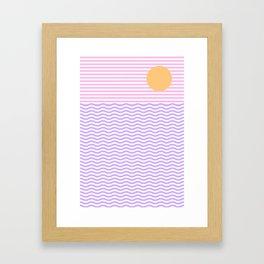 Coastline (Sunset Pink) Framed Art Print