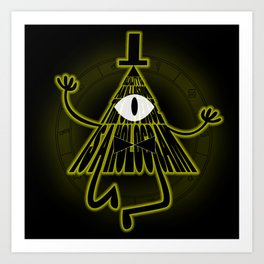 Bill Cipher, Reality is an illusion Art Print
