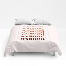 woman! Comforters