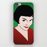 amelie iPhone & iPod Skins featuring Amelie by Pendientera
