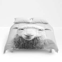 Sheep - Black & White Comforters