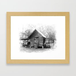 Corn Crib Framed Art Print