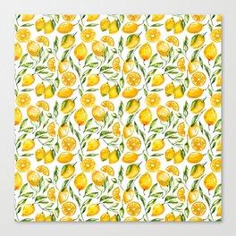 sunny lemons print Canvas Print