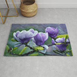 When Magnolias Bloom in Purple Rug