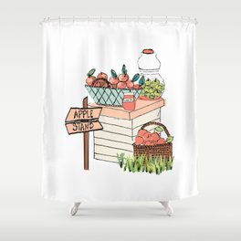 Apple Stand Shower Curtain