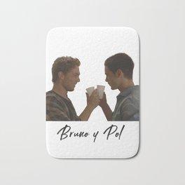 Bruno y Pol gay fan love Bath Mat