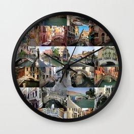 Venice Bridges Montage Wall Clock