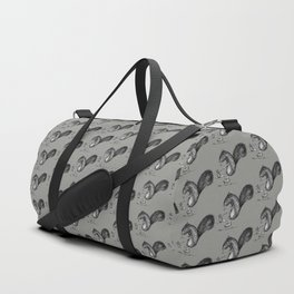 Ride On Squirrel_grey Duffle Bag