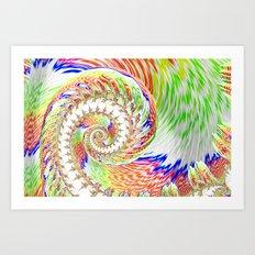 A Twist Of Colour Art Print