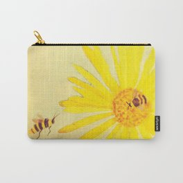Sunflower and Bee by Twelve Little Tales Carry-All Pouch