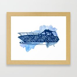 Home Sweet Home Away From Home, Boat Silhouette, Nautical Framed Art Print