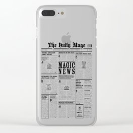 The Daily Mage Fantasy Newspaper Clear iPhone Case