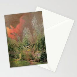 English Garden Sunset Stationery Cards