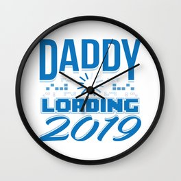 Baby Is Loading Boy Girl For Dad Announcement Gift Wall Clock