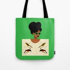 Green Postcard Fashion Tote Bag