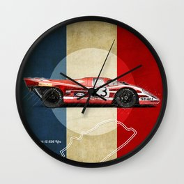 Le Mans Vintage Salzburg Wall Clock