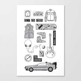 McFly Icons - Back to the Future Canvas Print