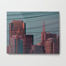 Downtown and Wires Metal Print