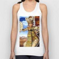 bali Tank Tops featuring Bali Dancer by yadi sudjana