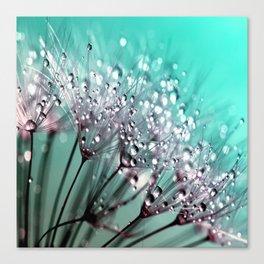 Dandelion Blue Diamonds Canvas Print
