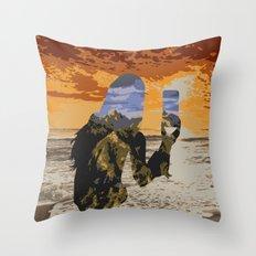 Lady Land Throw Pillow