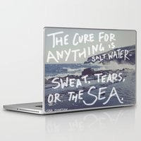 salt water Laptop & iPad Skins featuring Salt Water by Leah Flores