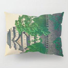 Kawase Hasui Vintage Japanese Woodblock Print Nagoya Castle Pillow Sham
