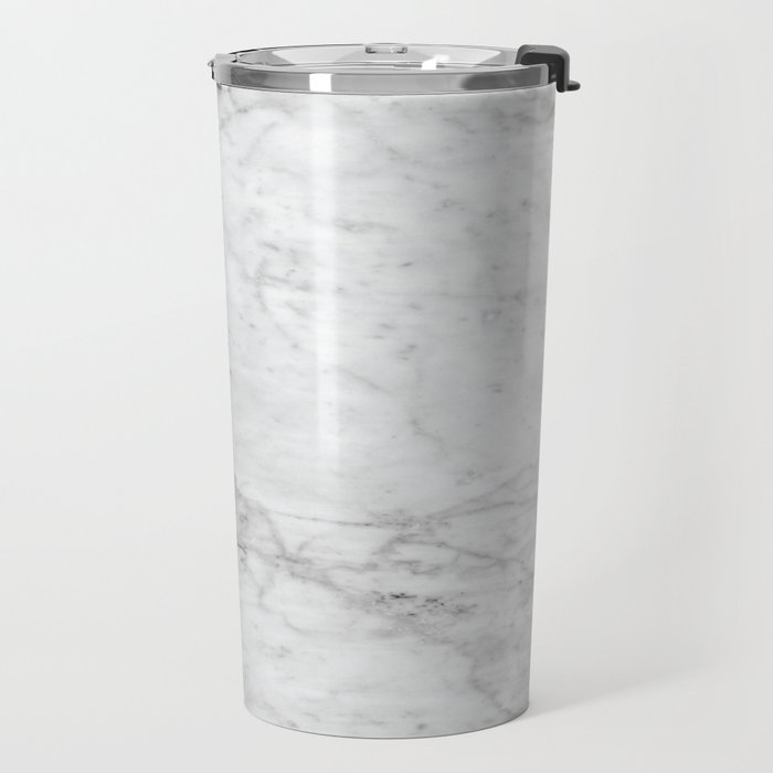 White Marble #629 Travel Mug