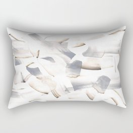 180630 Grey Black Brown Abstract Watercolour 11| Watercolor Brush Strokes Rectangular Pillow