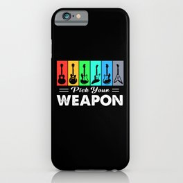 Guitar Guitarist Pick Weapon Band Music Instrument iPhone Case