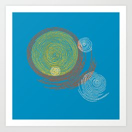 Stitches - Solar flare Art Print